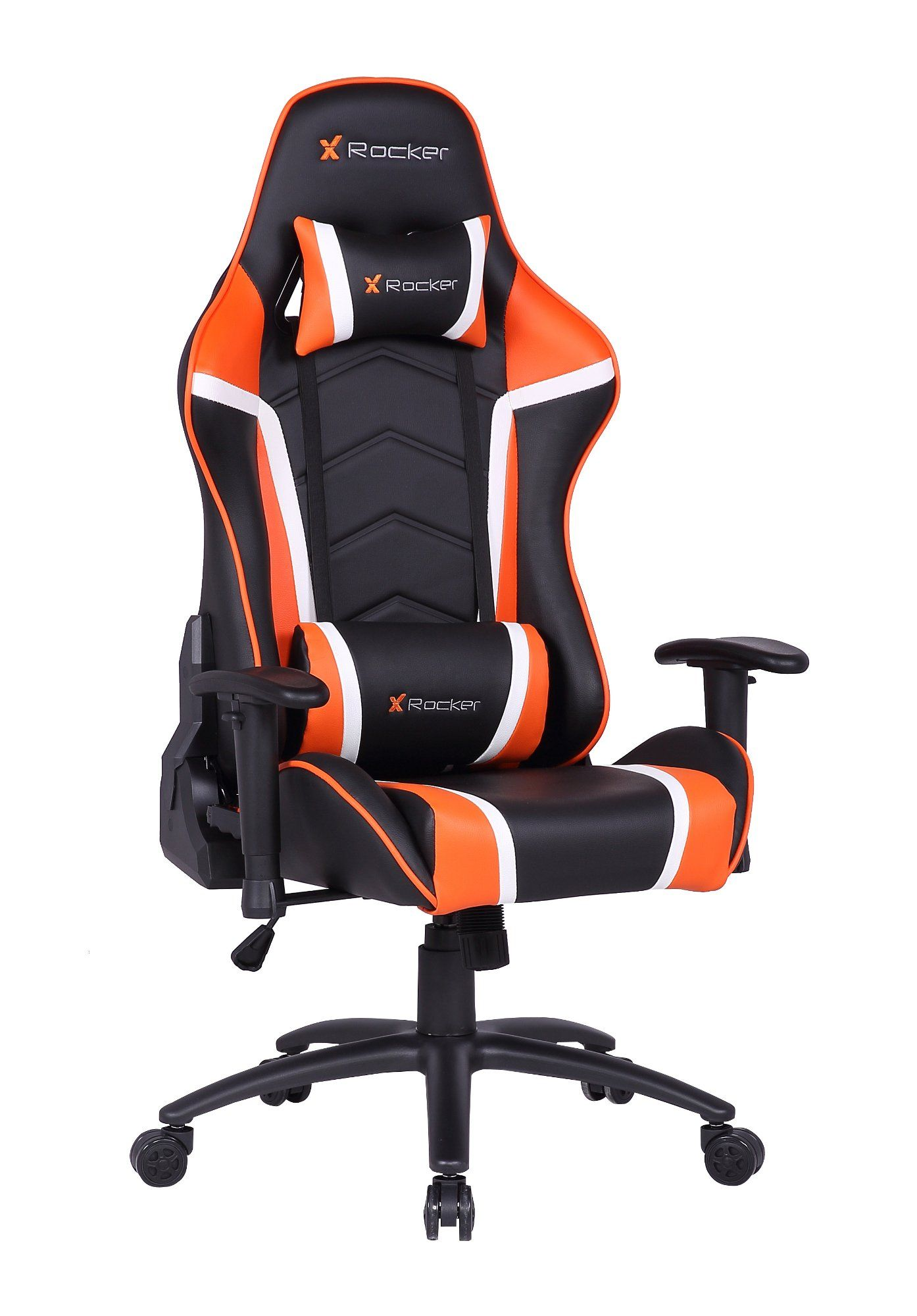 X Rocker Polyester Swivel Torque Chair In Black Red Gaming Chair