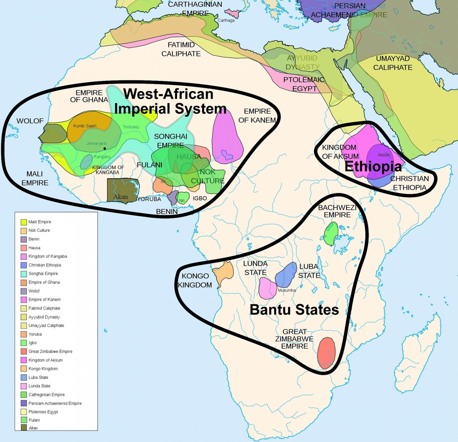 Los imperios de frica antes del colonialismo  Etnico