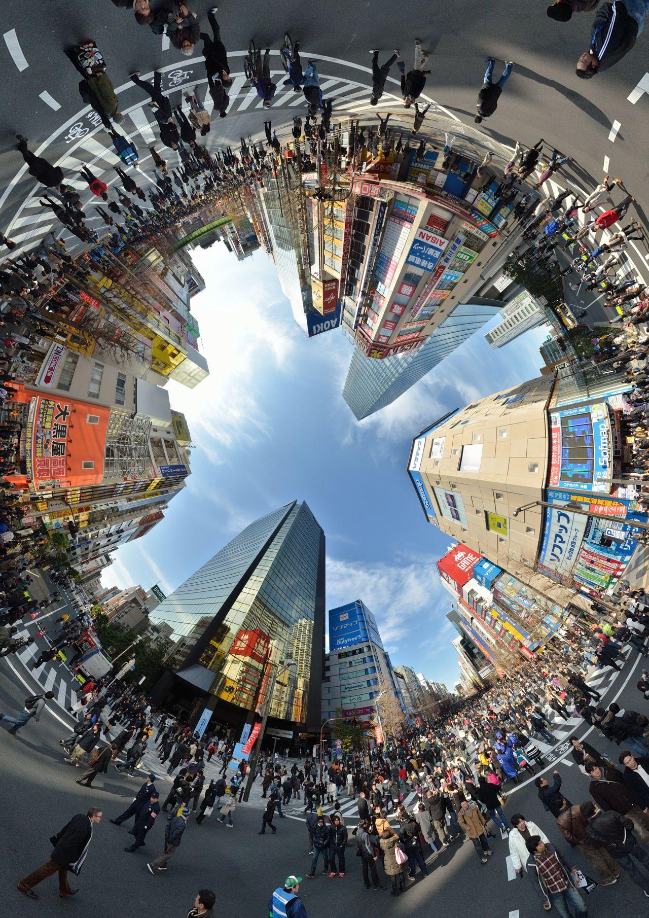 Akihabara car free zone    (pretty cool immersive view::  http://www.360cities.net/image/akihabara-chuo-street-crossing-akihabara-tokyo : )