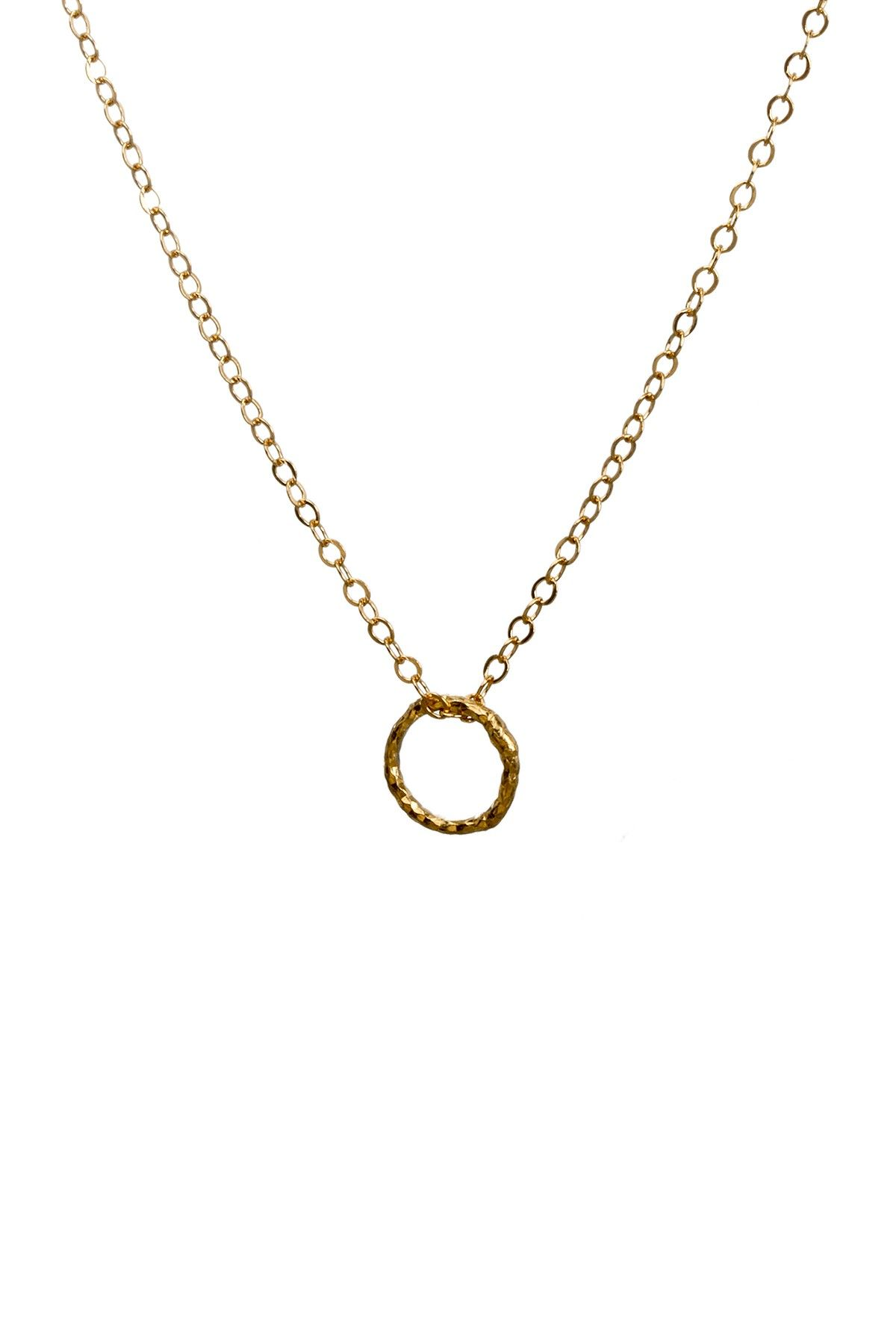 K yellow gold plated sterling silver karma textured ring pendant