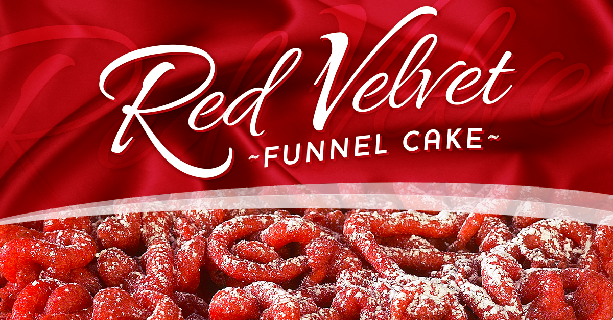 Red Velvet Funnel Cakes Funnel Cake Funnel Cake Recipe Cake Mix