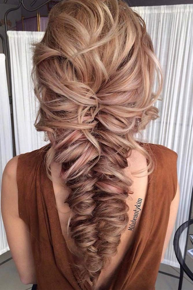 fancy prom hairstyles long