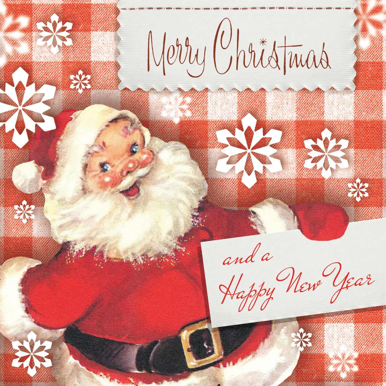 Paulo Viveiros Vintage Ephemera Xmas Love This Santa Too Wish I