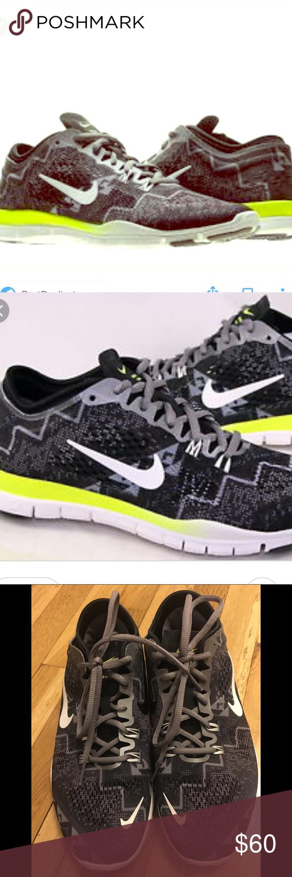 Nike women's Free 5.0 Tr Fit 4 Print Black Ivory Ash 629832