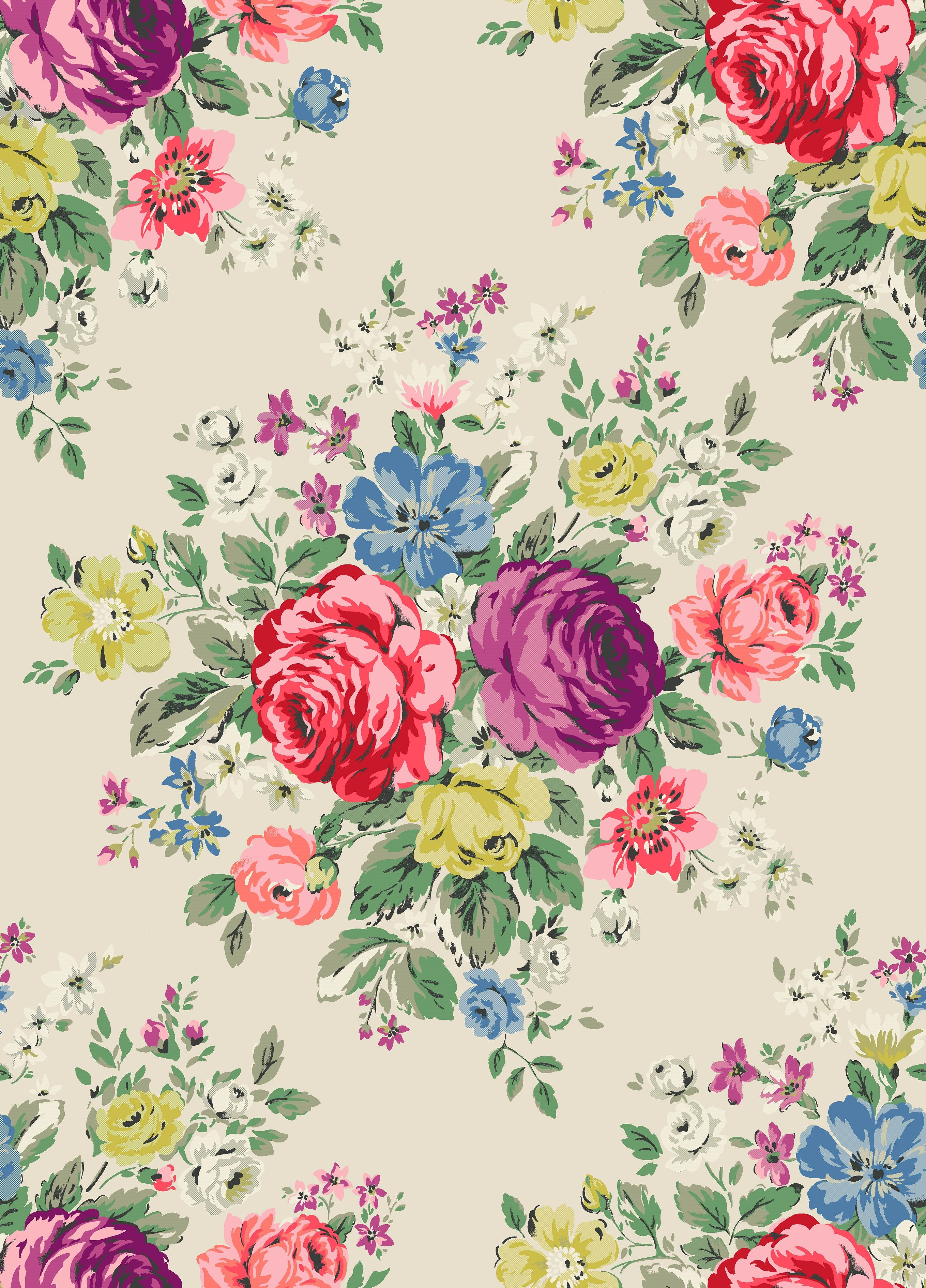 Introducing Hampstead Rose Cath Kidston Iphone Wallpaper Pattern Flower Wallpaper Iphone Wallpaper Vintage