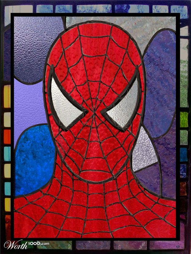 Spiderman | Superhero Antihero & Action - Stained Glass ...