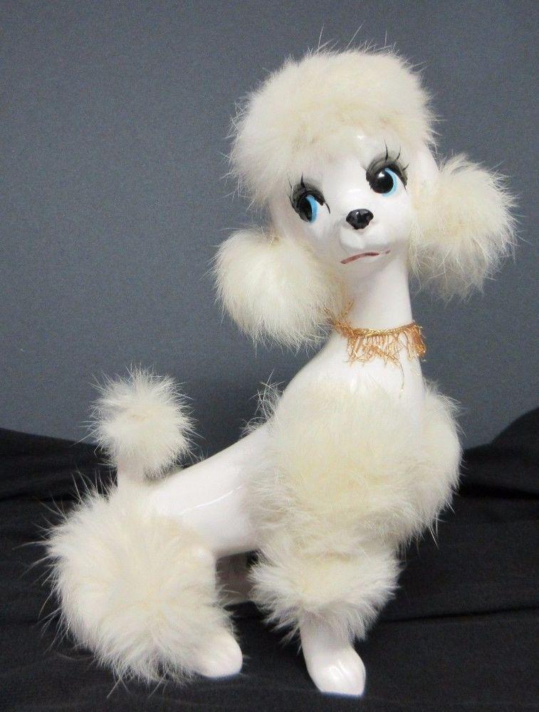 Vintage Japan Large Poodle Dog Porcelain Ceramic Figurine