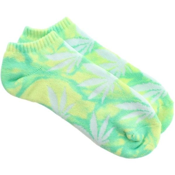 HUF Tie Dye Plantlife Ankle Socks yellow mint ($9.99) ❤ liked on Polyvore featuring intimates, hosiery, socks, tye dye socks, mint green socks, mint socks, huf and yellow socks