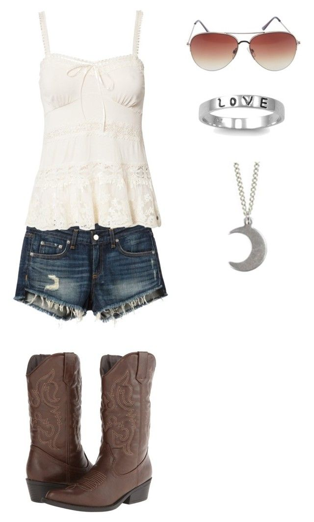 """Going for a drive in the country"" by julia-hart ❤ liked on Polyvore featuring Madden Girl, rag & bone/JEAN, Denim & Supply by Ralph Lauren, Wet Seal, Fantasy Jewelry Box and country"