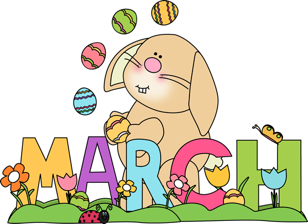 Month of March Easter Bunny | Preschool Calendar ...