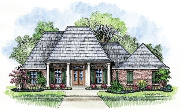 Country French House Plan : House Plans   Kabel House Plans: Orleans A Country  French Home Plan
