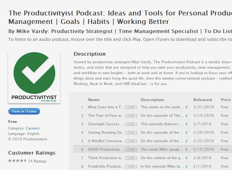 The Productivityist Podcast Ideas and Tools for Personal