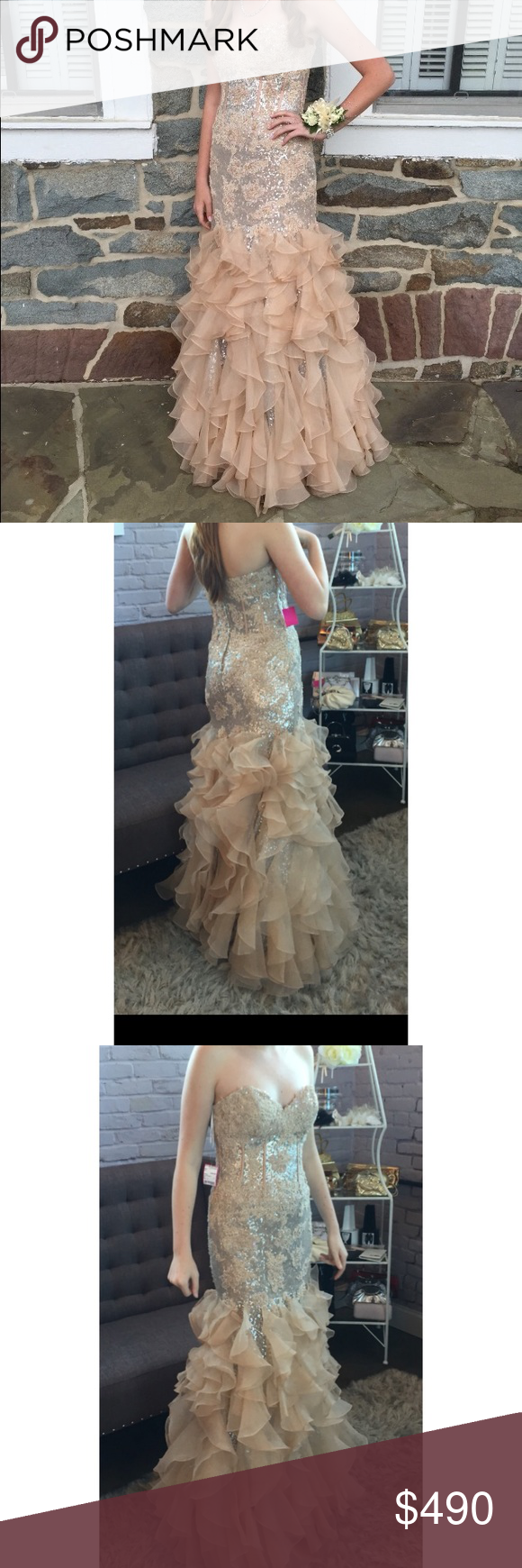 Jovani Dress!!! In great shape!! Worn once!! Size:6 also posted on other sites Jovani Dresses Prom