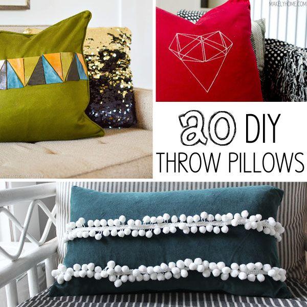 20 DIY Throw Pillows