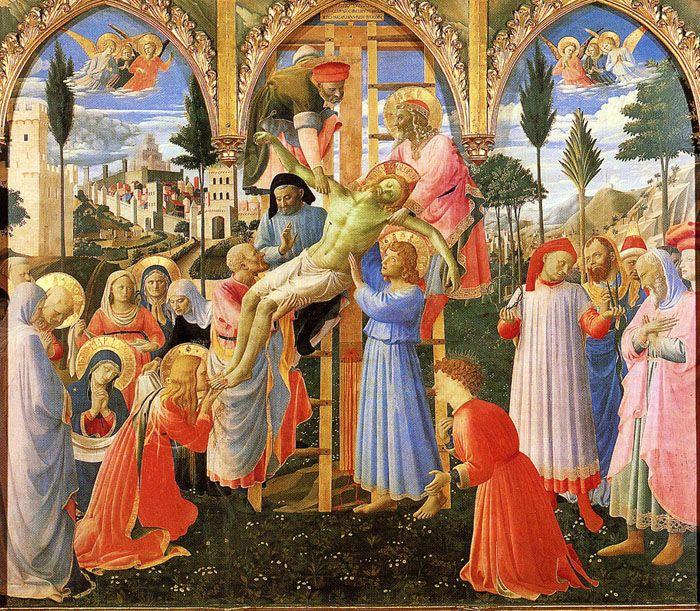 Fra Angelico Descendimiento De La Cruz Arte Bizantino Fra Angelico Renacimiento