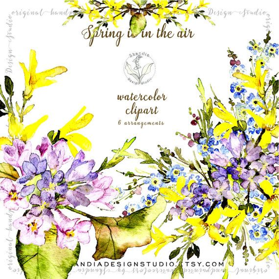 Watercolor clipart spring flowers clipart wildflower clipart watercolor clipart spring flowers clipart wildflower mightylinksfo