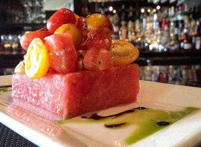 Watermelon Salad At Nosh Euro Bistro In Dallas 4216 Oak Lawn Avenue