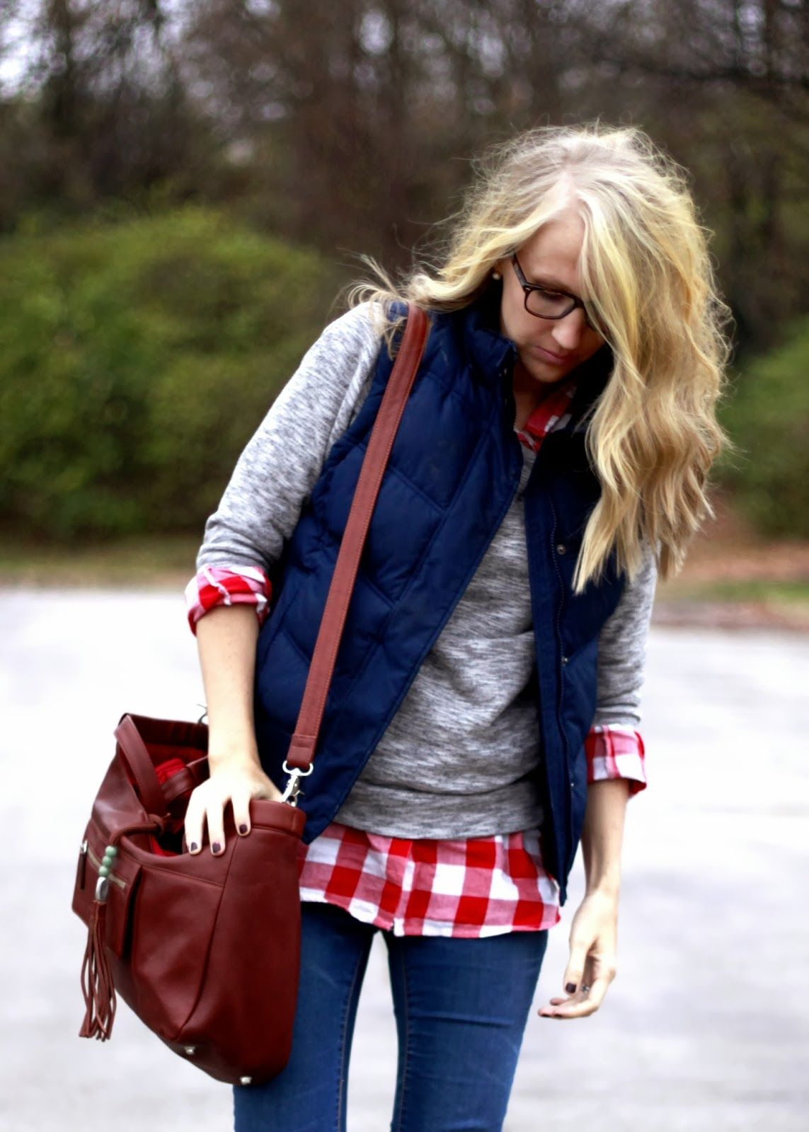 Red flannel unbuttoned  A real woman has bigger things to do than always be perfectly