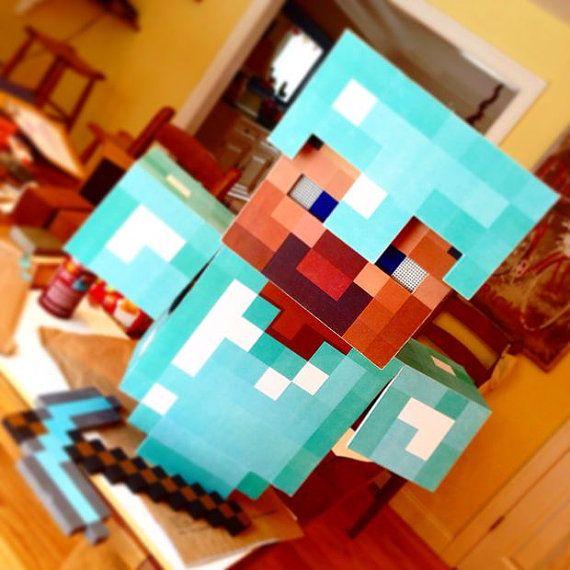 Traje De Armadura De Diamante Minecraft Por Diyminecraftcostume