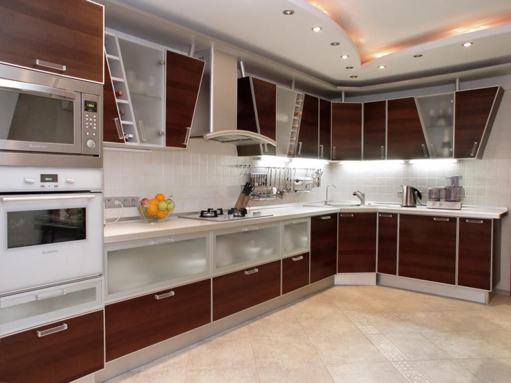 Kitchen Cabinet Designs and How to Colors for Kitchen Cabinets     modern stylish kitchen design with cool cabinet kitchen design  with glass l shaped