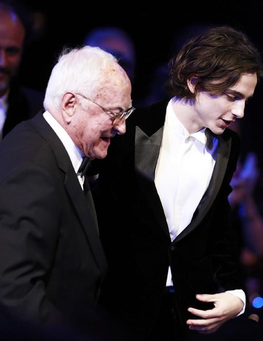 aa22f0bfcbdf Timothée Chalamet   James Ivory EE British Academy Film Awards 2018 ...