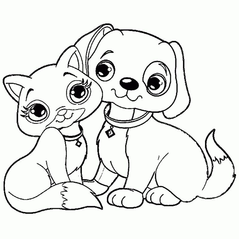 - Puppy Kitten Coloring Pages In 2020 Puppy Coloring Pages, Cat Coloring  Page, Dog Coloring Page