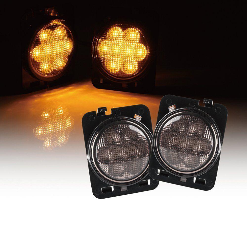 Smoke Lens Led Side Marker Fender Lights Leds 4 Less Jeep Waterproof Headlamp Led Work Light