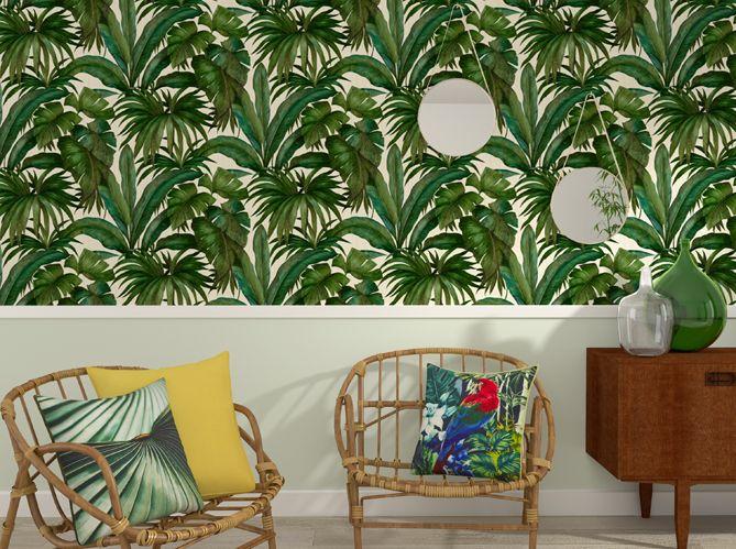 La tendance du jour : le papier peint tropical - Elle Décoration ...