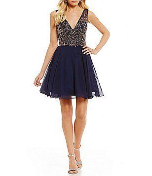 05692f97b9 GB Social Beaded Bodice Dress