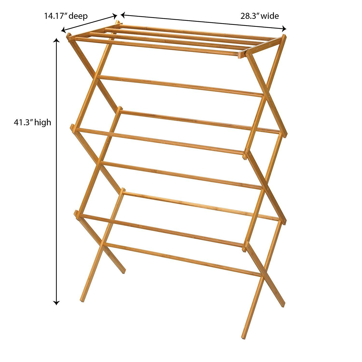 Amazon Drying Rack Amazon Household Essentials 6524 Tall Indoor Folding Wooden