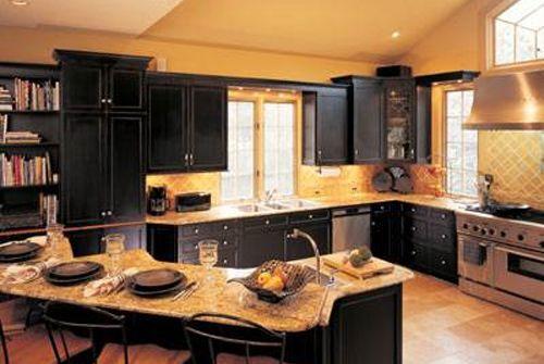 Black Cupboards Kitchen Ideas
