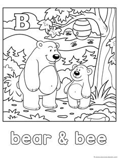 Animal Alphabet Coloring Printables A-F | Bee coloring ...