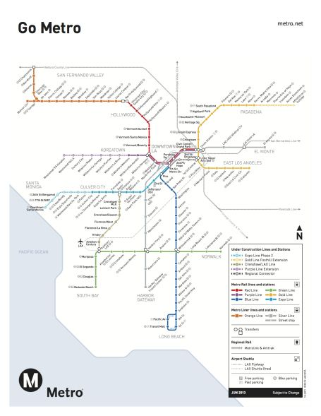 New 'under construction' map for Metro Rail debuts | Sam Stuff ... on