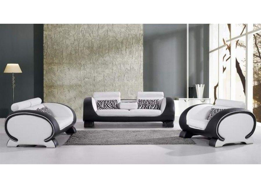 Alien - Modern White and Black Leather Sofa Set https://www ...