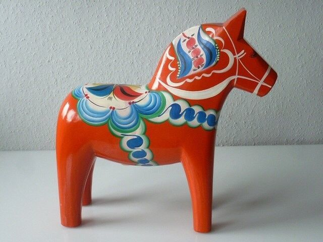 Dalarna Pferd xl dalapferd dalarna pferd orange 42 cm groß olsson schweden äkta