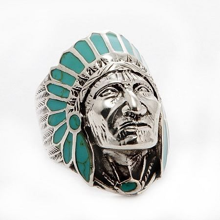 Native American Indian Chief Head Sterling Silver Ring In Turquoise He Turquoise Jewelry Native American Sterling Silver Rings Turquoise Silver Jewelry Diy