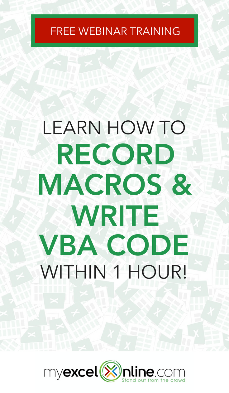 Free Excel Macros & VBA Webinar Training | Accounting for Online