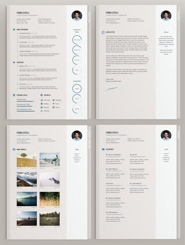 20 Free Editable Cv/Resume Templates For Ps & Ai | Cv Template