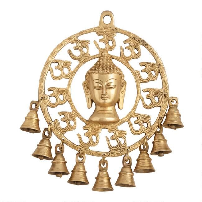 Hang Our Brass Buddha Head Decor On The Door Or In Your