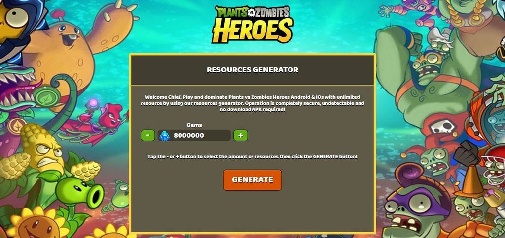 Plants Vs Zombies Heroes Hack Unlimited Free Gems For Plants Vs Zombies Heroes Android Ios Plants Vs Zombies Heroes Hack Plants Vs Zombies Hero Zombie