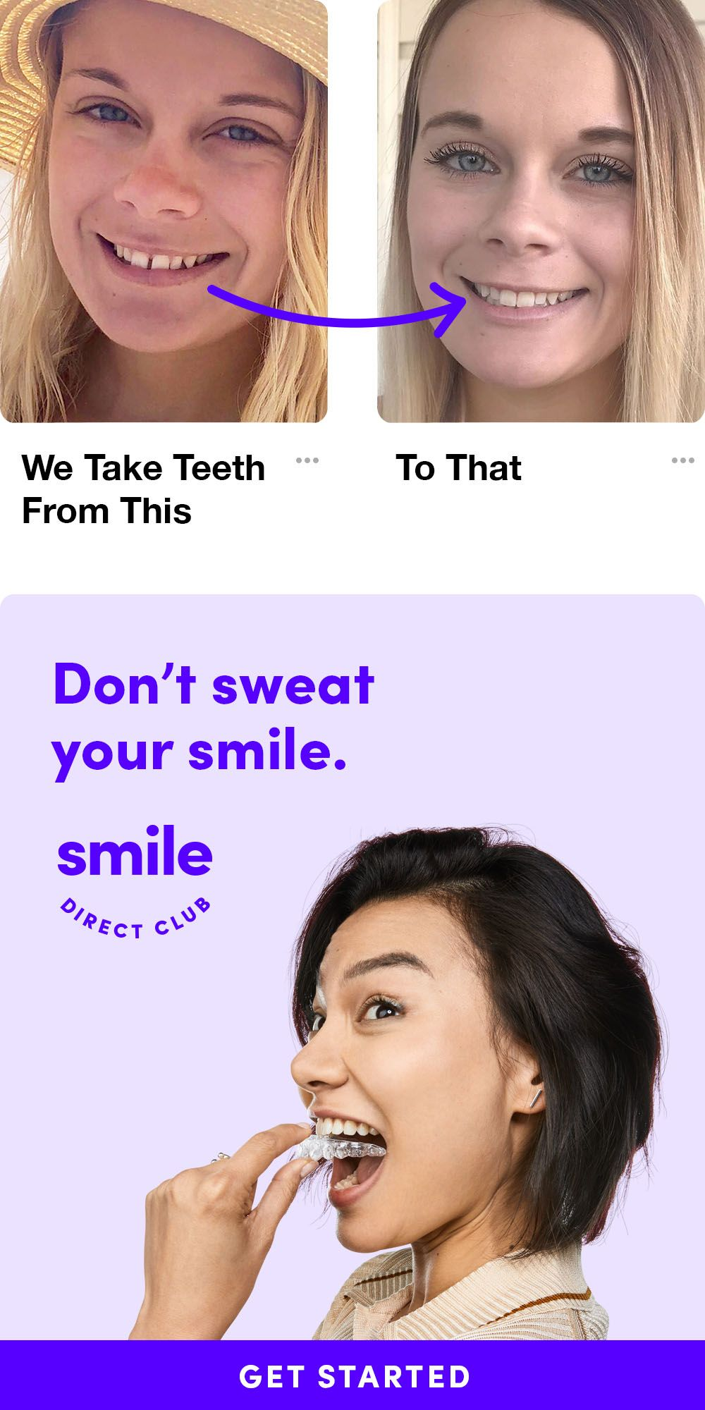 Dont sweat your smile straighten your teeth with