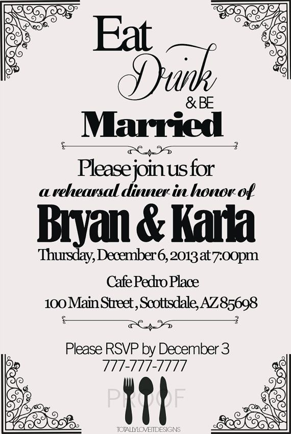 Eat Drink and Be Married Printable Modern by
