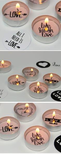 DIY - weihnachtliche Teelichter mit versteckter Botschaft + Vorlage