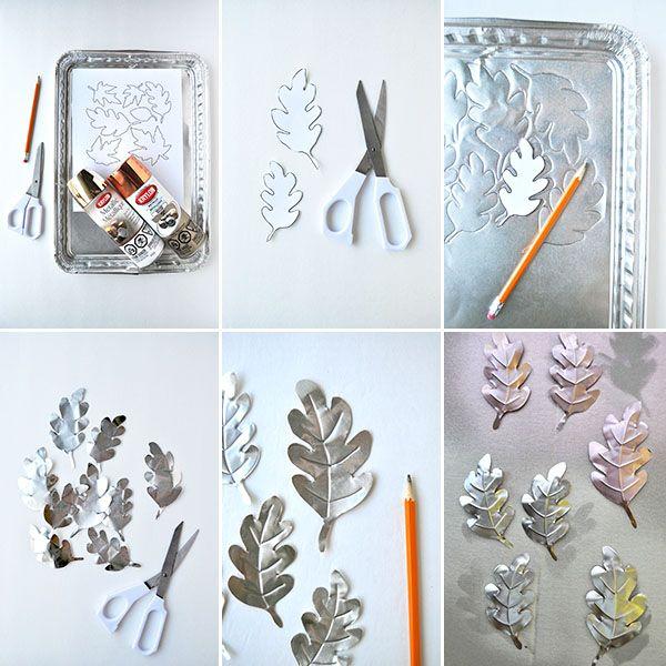 Metallic Leaves Table Decor