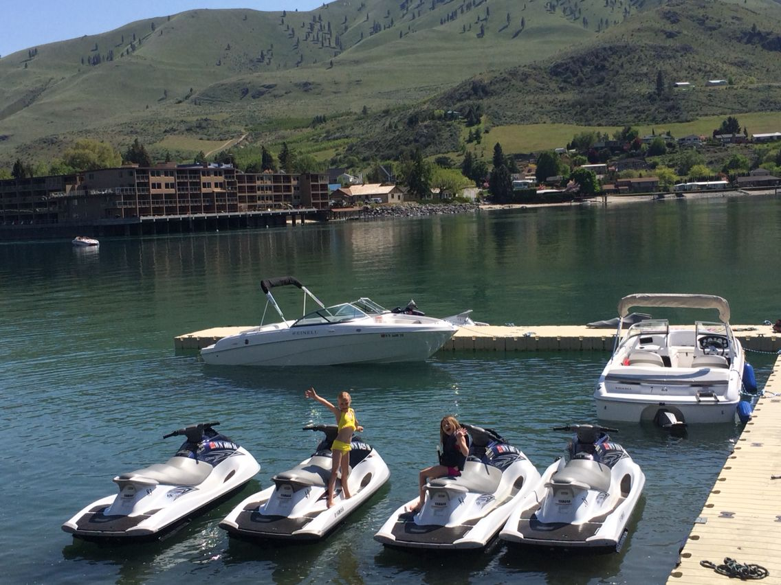 Great weather and time to be on lake chelan shoreline