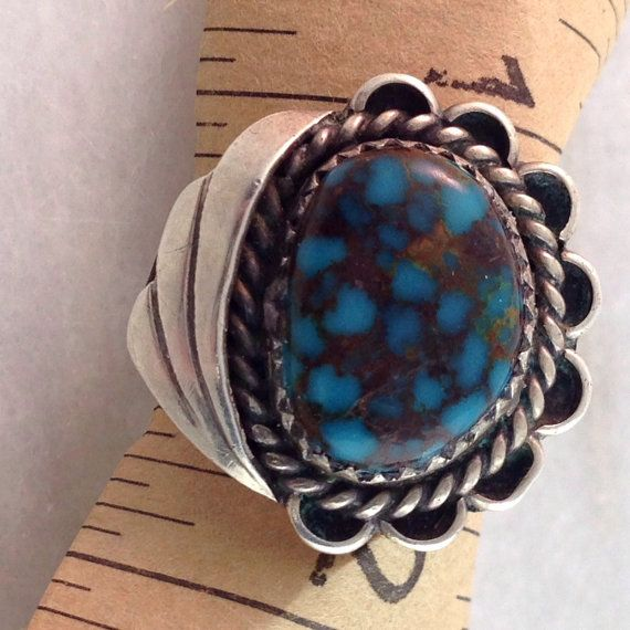 Turquoise Ring Size 5.5 Silver Ring Native American $38.00
