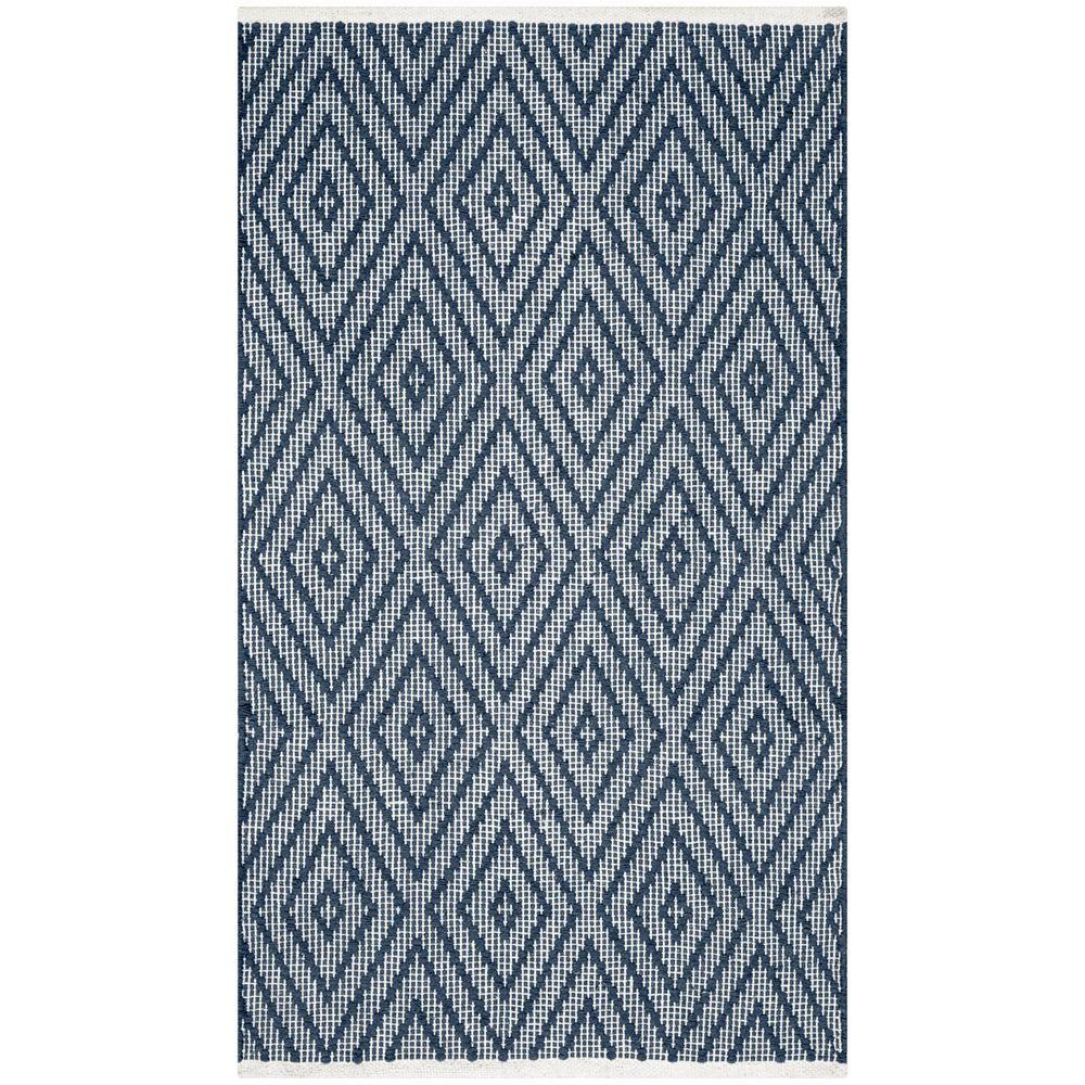 Montauk Navy/Ivory (Blue/Ivory) 3 ft. x 5 ft. Area Rug