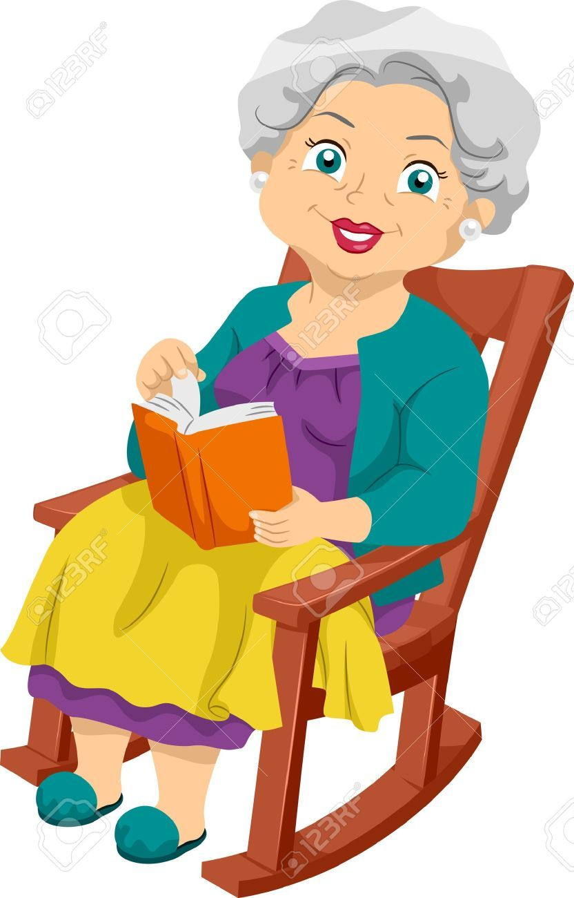 Image Result For Cartoon Of Grandma Reading In Rocking Chair