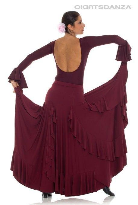 8020a76c0 Modelos faldas flamenco   flamenco   Faldas flamencas, Falda modelo ...