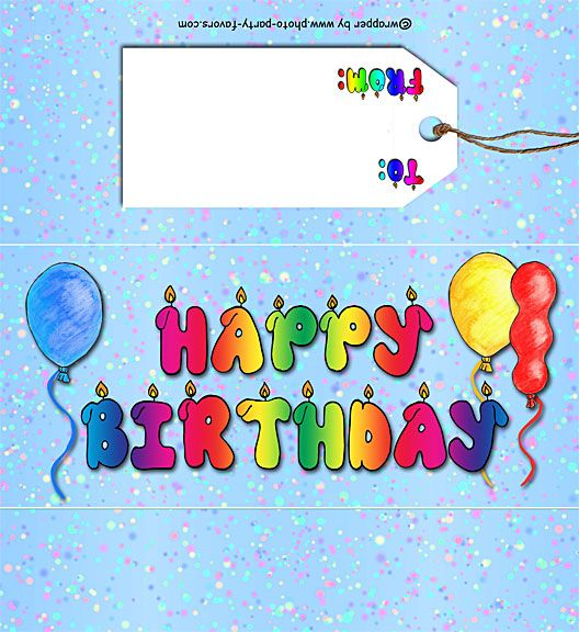 photo regarding Printable Hershey Bar Wrappers known as Totally free Printable Delighted Birthday Sweet Bar Wrapper, organized in the direction of